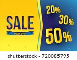 sale banner template design... | Shutterstock .eps vector #720085795