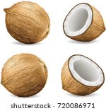 coconuts isolated on white...   Shutterstock .eps vector #720086971
