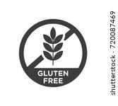 gluten free icon. vector... | Shutterstock .eps vector #720087469
