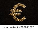 euro sign from golden nuggets... | Shutterstock . vector #720091525
