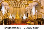 sitting buddha statue in temple ... | Shutterstock . vector #720095884