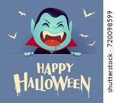 happy halloween. dracula... | Shutterstock .eps vector #720098599
