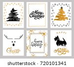 christmas and new year's 6...   Shutterstock .eps vector #720101341