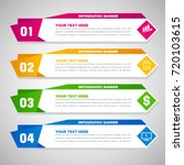 abstract infographic banners | Shutterstock .eps vector #720103615