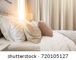 bed maid up with clean white... | Shutterstock . vector #720105127