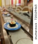 blurry and out of focus sushi... | Shutterstock . vector #720109465