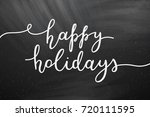 Happy Holidays Lettering ...
