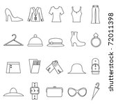 woman fashion and clothes icons   Shutterstock .eps vector #72011398