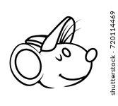 cute mouse cartoon   Shutterstock .eps vector #720114469