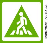 pedestrian road sign icon white ... | Shutterstock .eps vector #720115261