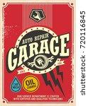 classic garage retro poster... | Shutterstock .eps vector #720116845