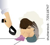 abstract for child abuse or... | Shutterstock .eps vector #720118747