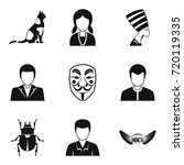 persona icons set. simple set... | Shutterstock .eps vector #720119335
