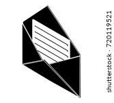 open envelope icon. simple...