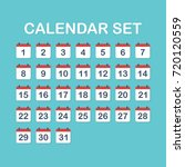 the calendar icon. calendar set.... | Shutterstock .eps vector #720120559