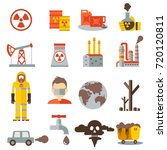 eco pollution icons set... | Shutterstock .eps vector #720120811