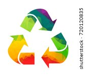 recycle sign vector. symbol for ... | Shutterstock .eps vector #720120835