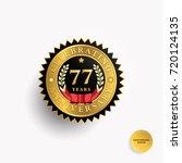 77 years anniversary black and... | Shutterstock .eps vector #720124135