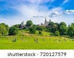 greenwich park at sunny spring... | Shutterstock . vector #720127579