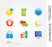 web business icon set of 9 icons | Shutterstock .eps vector #72012823