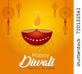 happy diwali banner for indian... | Shutterstock .eps vector #720133561