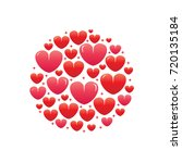 circle of hearts illustration ... | Shutterstock .eps vector #720135184