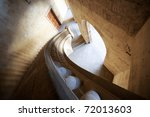 Charles V palace stairs - stock photo
