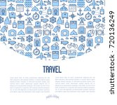 travel and vacation concept... | Shutterstock .eps vector #720136249