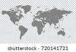 gray world map countries.... | Shutterstock .eps vector #720141721