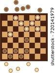checkers  | Shutterstock .eps vector #720141979