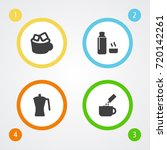 set of 4 drink icons set...   Shutterstock .eps vector #720142261