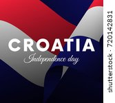 croatia independence day.... | Shutterstock .eps vector #720142831