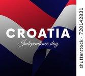 croatia independence day.... | Shutterstock .eps vector #720142831