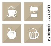 set of 4 drinks icons set...   Shutterstock .eps vector #720143455
