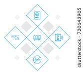 set of 5 plane outline icons... | Shutterstock .eps vector #720143905
