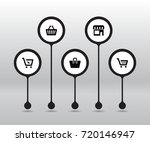 set of 5 store icons set... | Shutterstock .eps vector #720146947