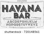font script typeface vector... | Shutterstock .eps vector #720148561