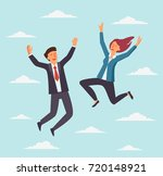 young  happy business people... | Shutterstock .eps vector #720148921