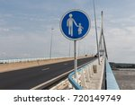 highway with footpath at pont... | Shutterstock . vector #720149749