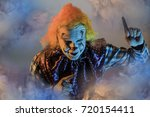 scary halloween clown | Shutterstock . vector #720154411
