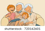 grandparents and grandchildren  ...   Shutterstock .eps vector #720162601