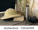 still life with  traveler's... | Shutterstock . vector #720164509