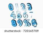 font. the digits are from 0 to... | Shutterstock . vector #720165709