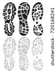 footprint sport shoes big...   Shutterstock .eps vector #720168241