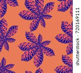 seamless floral pattern with... | Shutterstock .eps vector #720169111