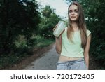 young and beautiful european...   Shutterstock . vector #720172405