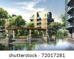 3d render of a building | Shutterstock . vector #72017281