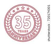 35 years anniversary logo... | Shutterstock .eps vector #720174301