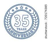 35 years anniversary logo... | Shutterstock .eps vector #720174385