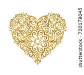 raster version. ornate heart in ... | Shutterstock . vector #720178045